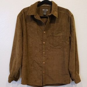 REI Thick Long Sleeve Button Up Corduroy shirt S